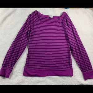 VS Pink Striped Long Sleeved Tee